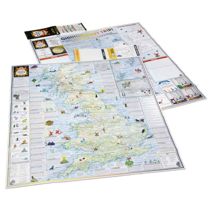 ST&G's Craftily Conjured Great British Folklore and Superstition Map-The Trails Shop