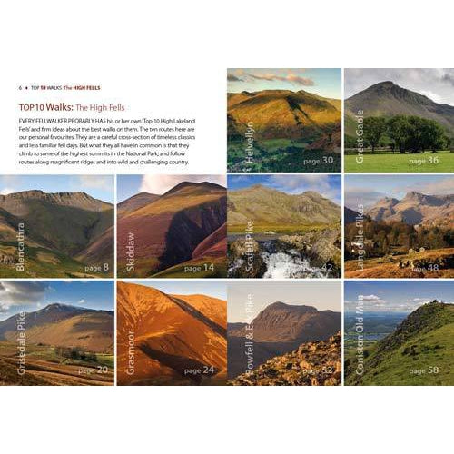 Top 10 Walks - Lake District: High Fells-The Trails Shop