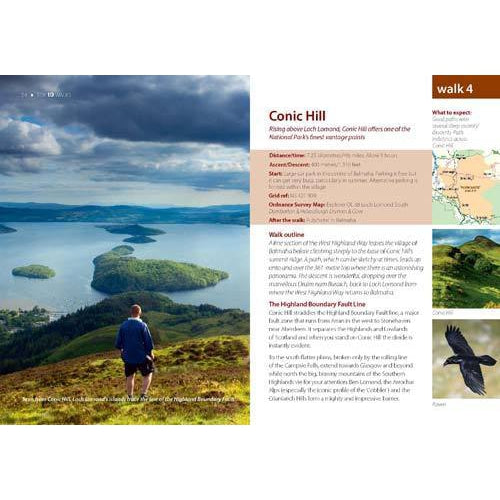 Top 10 Walks - Loch Lomond & The Trossachs: Hill Walks & Easy Summits-The Trails Shop