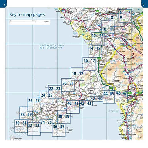 Wales Coast Path: Llyn Peninsula OS Map Atlas-The Trails Shop