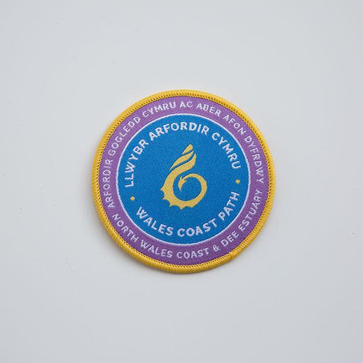 Wales Coast Path woven badge-North Wales Coast and Dee Estuary-The Trails Shop