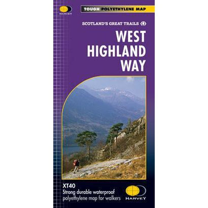 West Highland Way Harvey map-The Trails Shop