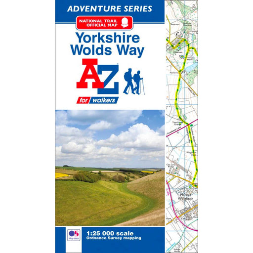 Yorkshire Wolds Way A-Z Adventure Atlas-The Trails Shop