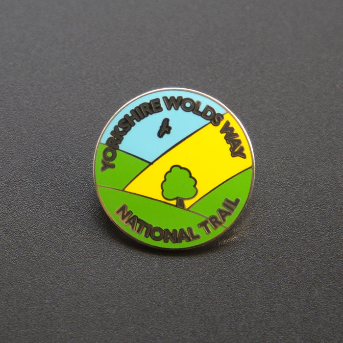 Yorkshire Wolds Way enamel badge-The Trails Shop
