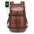 Fur Jaden Brown Anti Theft Faux Leather Water Resistant Laptop Backpack Bag