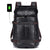 Fur Jaden Black Anti Theft Faux Leather Water Resistant Laptop Backpack Bag