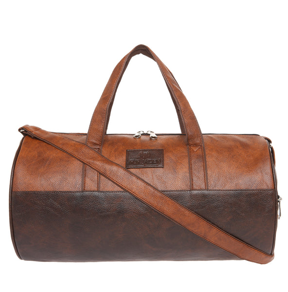 23L Brown and Tan Combo Travel Duffle cum Gym Bag
