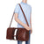 Fur Jaden Brown Weekender Duffle Bag for Travel for Men and Women Made of Premium Leatherette with Attachable Shoulder Strap