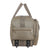 Fur Jaden Beige Travel Duffel Weekender Bag with 2 Wheels and Adjustable Shoulder Strap
