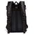 Fur Jaden Black Leatherette Anti Theft 15.6 Inch Laptop Backpack