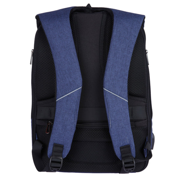 Fur Jaden Navy Anti Theft Backpack with USB Charging Point and AUX Output