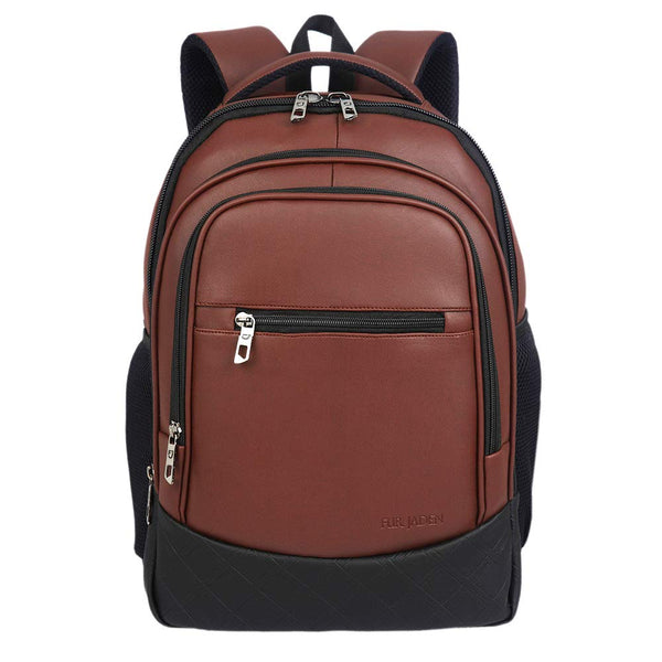Fur Jaden Brown Artificial Leather Laptop Backpack