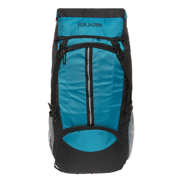 55 LTR Turquoise Blue Trekking Rucksack Backpack with External Shoe Compartment