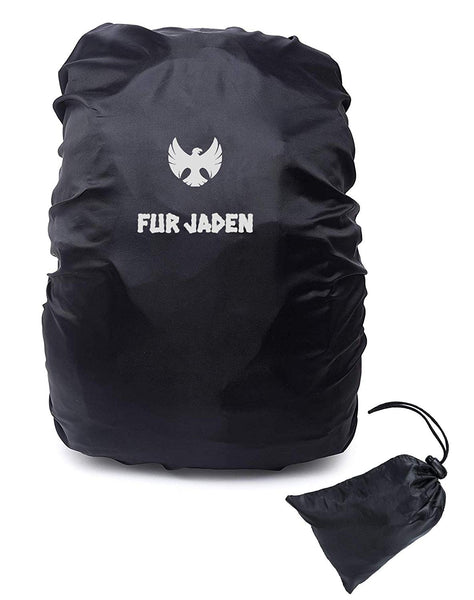 Fur Jaden Large Sized Adjustable Waterproof Rain Cover for Backpack Bags with Draw String Pouch