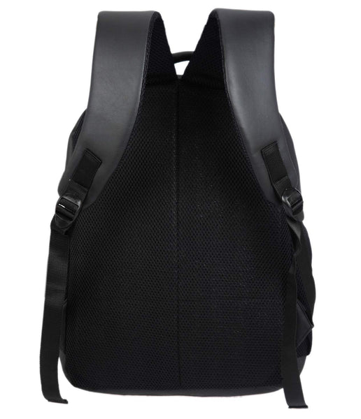 Fur Jaden Black Artificial Leather Laptop Backpack