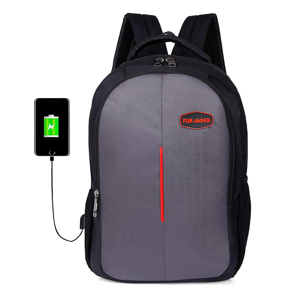 Fur Jaden 15.6 Inch Laptop Backpack with USB Charging Port