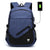 Fur Jaden 25L Navy Casual Backpack with USB Charging Port and 15.6 Inch Laptop Pocket (BM30_Navy)