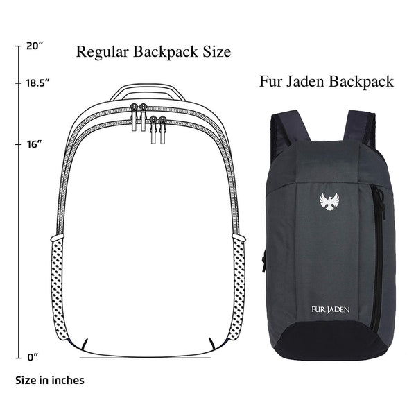 Fur Jaden Grey 10L Mini Backpack for Hiking & Cycling