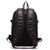 Fur Jaden Black Leather Backpack with Anti Theft Buckle