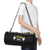 Black 23L Duffle Gym Bag with External Shoe Pocket