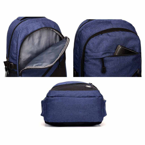 Fur Jaden 25L Navy Casual Laptop Backpack with USB Charging Port