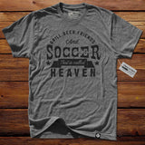 #TheSoccerMan T-Shirt - Grill, Beer, Friends, And Soccer.