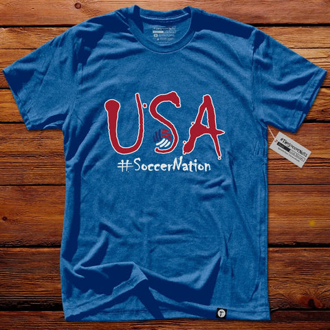 #TheSoccerFan T-Shirt - USA SoccerNation Blue
