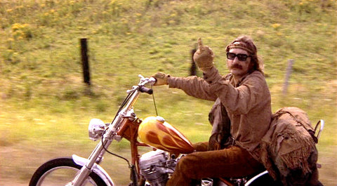 Billy, Easy Rider throwing the bird
