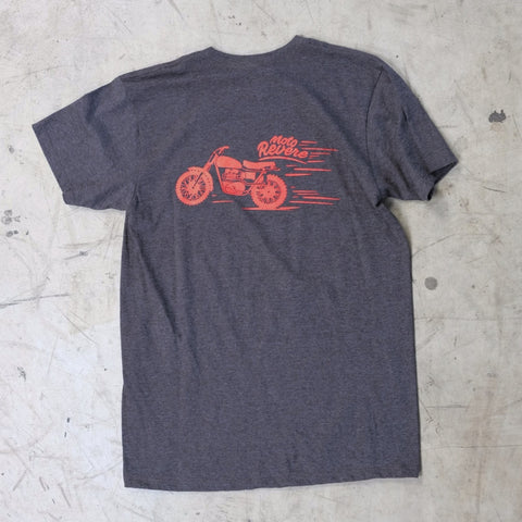 Stevie Scrambler T shirt Grey-MOTO REVERE