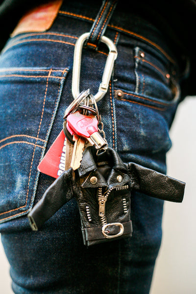 Mini Leather Jacket Keychain-MOTO REVERE
