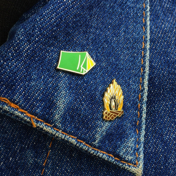 Enamel lapel and hat pins from Moto Revere Company