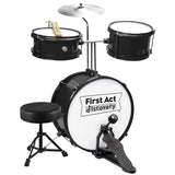 Drum Set with Seat: Black