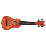 Mini Guitar: Red Flowers