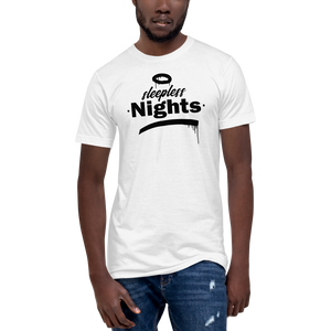 Sleepless Nights - Fine Jersey Tall T-Shirt - White - Vandal Wisdom