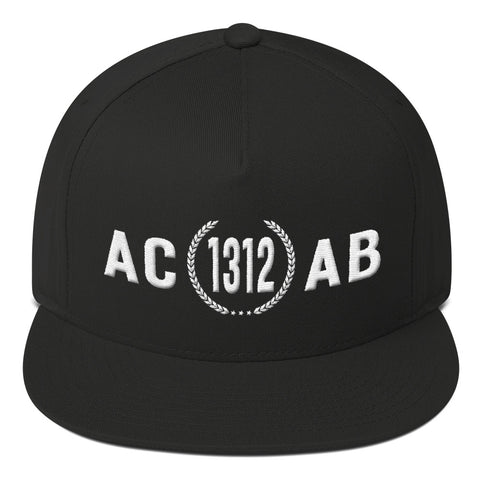 ACAB [1312] - Yupoong Flat Bill - Puff Embroidery - Vandal Wisdom