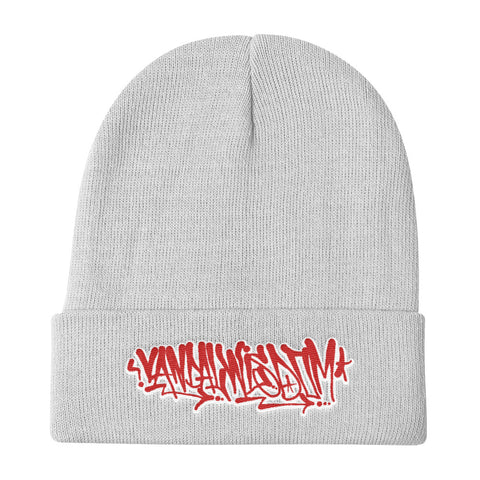 Handstyle Winter Hat [Red & White] - Vandal Wisdom