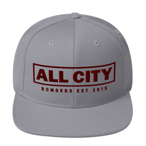 All City Bombers est 2015 - Classic Yupoong Snapback - Silver - Vandal Wisdom
