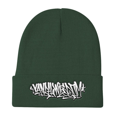 Hardcore Handstyle Beanie Dark Green by Vandal Wisdom Streetwear Co. since 2015