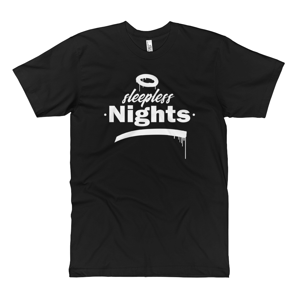 Sleepless Nights - Fine Jersey Tall T-Shirt - Black - Vandal Wisdom