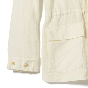 OLIVIA RELAXED LINEN ARMY JACKET
