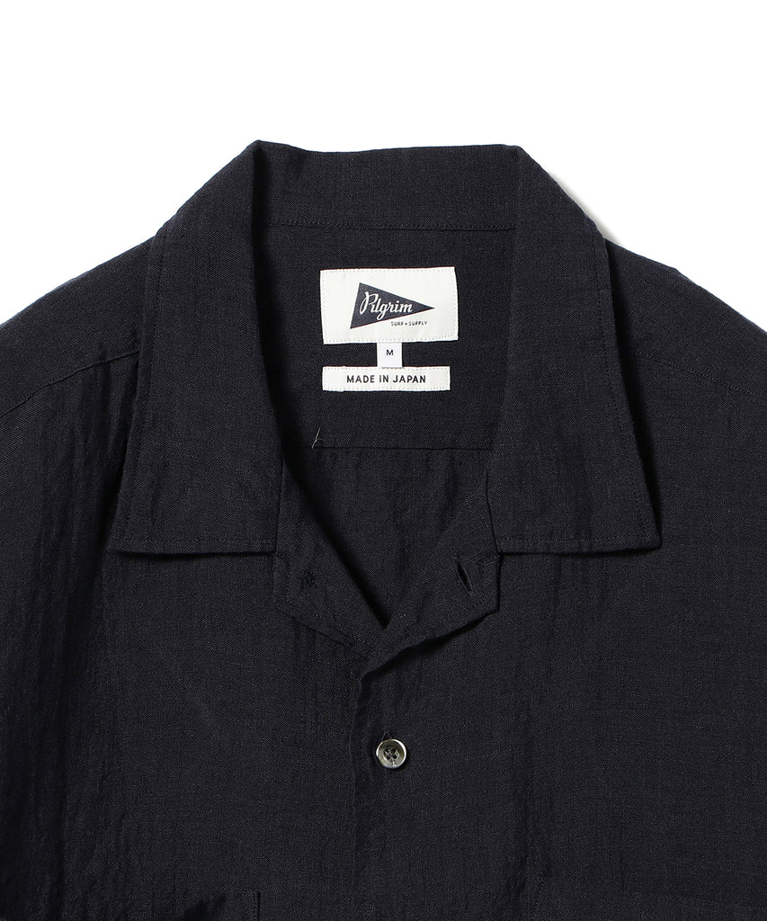 VINCENT NATURAL DYED LINEN SHIRT