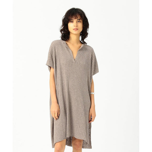 SIMONE COTTON RIB DRESS
