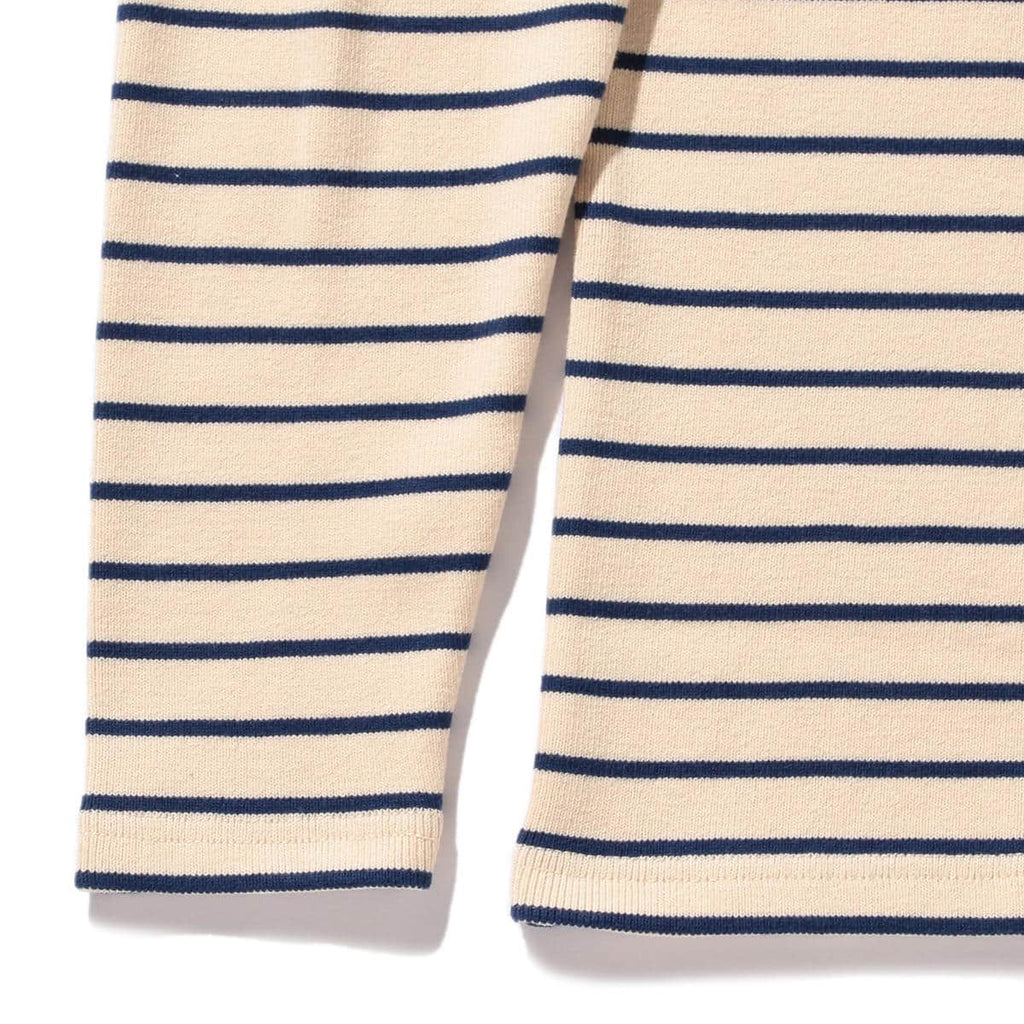 BEAMS PLUS STRIPED RIB TURTLE NECK