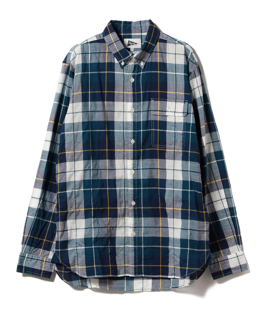 BUBBIE BUTTON DOWN PLAID