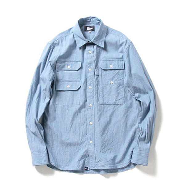 FISHING POCKET SHIRT, SAX CHAMBRAY