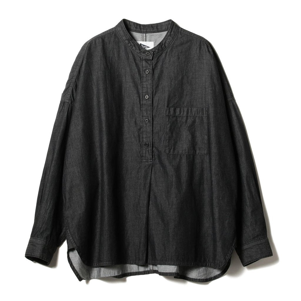 DEANNA BAND COLLAR POPOVER SHIRT
