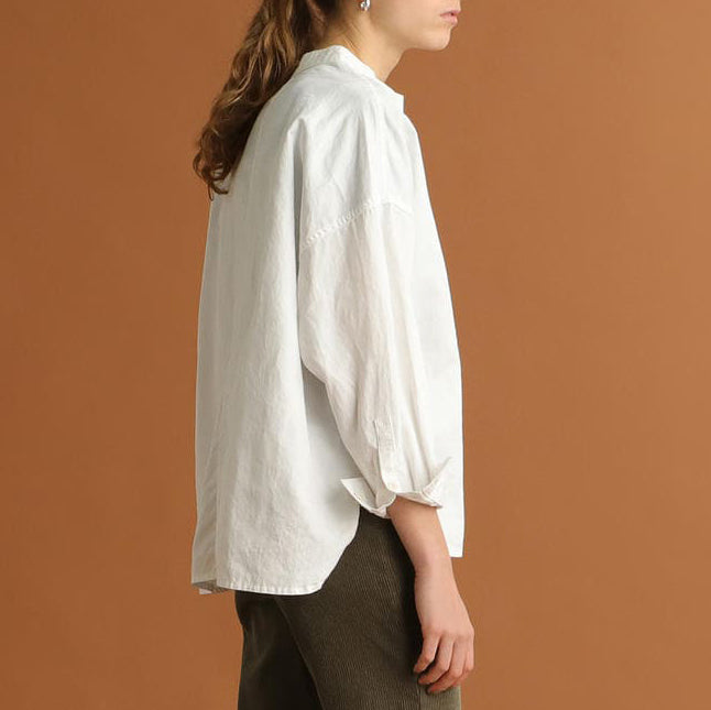 DEANNA BAND COLLAR SHIRT