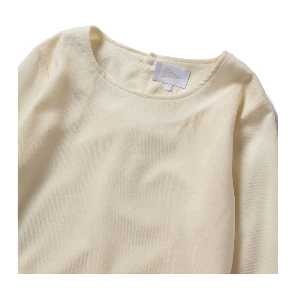 BLINKY L/S BOX TOP, OFF WHITE