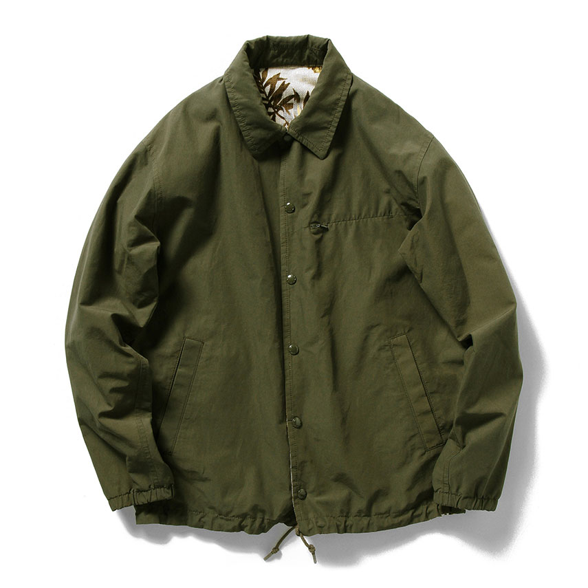 MORRIS REVERSIBLE COACH JACKET, OLIVE