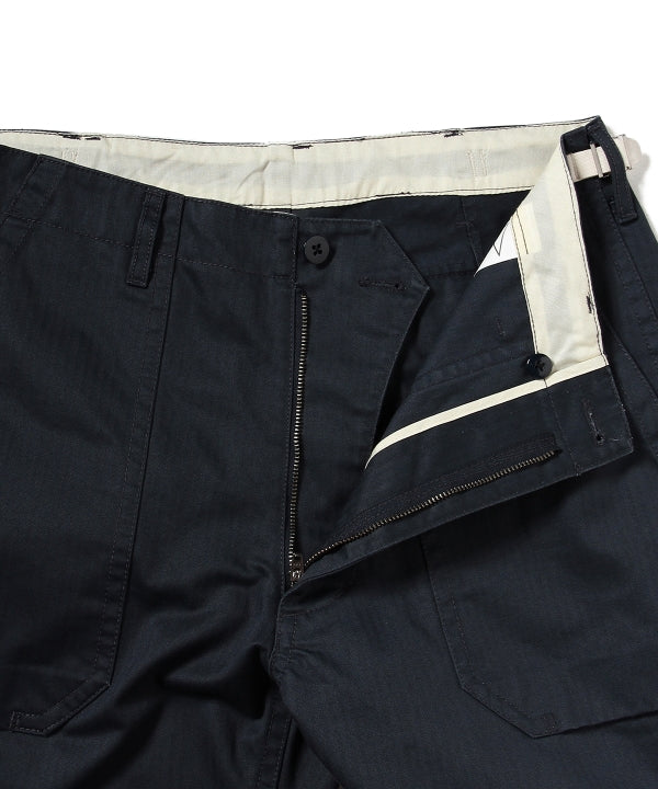 LEROY HERRINGBONE FATIGUE PANT, DARK SLATE